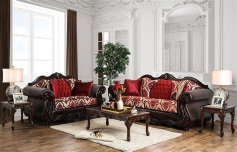 burgundy living room set wilford burgundy upholstered living room set sm6307 sf