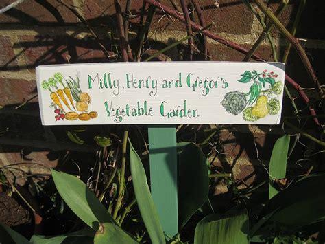 bespoke wooden garden signs  okey dokey