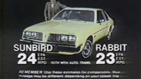 pontiac sunbird commercial