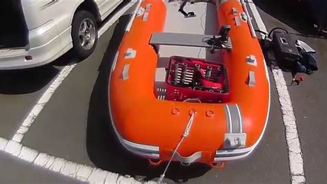 Inflatable Boat Fish Finder by How To Assemble The Inflatable Boat And Install The Fish