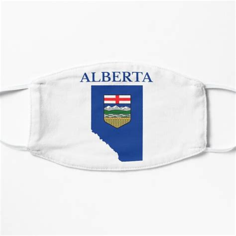 """Stage three of the tour of alberta challenged riders to 11 loops around a relatively flat 10.6km circuit in edmonton. """"Alberta Flag Map, AB, Canada"""" Mask by marosharaf   Redbubble"""