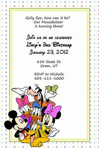 disney mickey and friends birthday invitation wedding With free printable disney wedding invitations