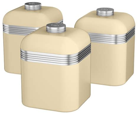 Kitchen Canisters by Swan Set Of Three Kitchen Canisters Tea Coffee Sugar