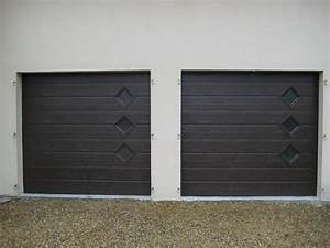 porte marron avec hublots lateraux smf services With maintenance porte de garage