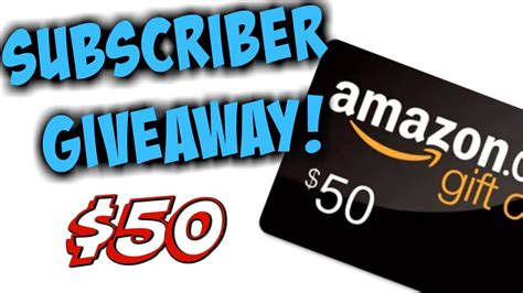Amazon Card Giveaway!  Subscriber Sweepstakes! 2017