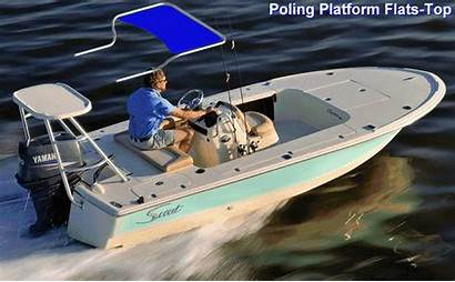 Boats Scout Console Boat Flats Tops Shade