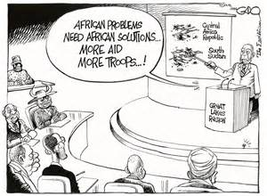 Cartoon Political Problems in Africa