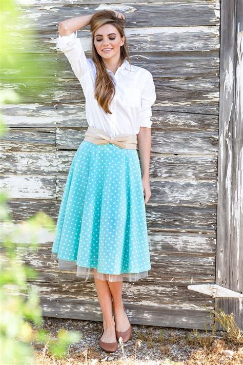 shabby blue kunee skirts skirts and dots on