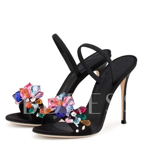 colorful sandals colorful rhinestone high heel sandals slippers for