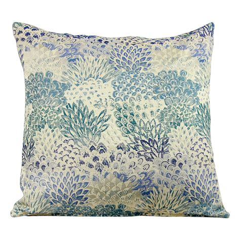 light blue lumbar pillow light blue flower bushes euro 20 lumbar pillow covers