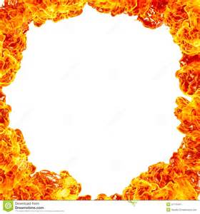 White Fire Flames Background Border
