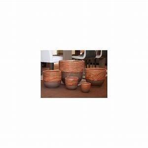 Pot En Terre Cuite émaillée : pot en terre cuite maill e rebord bois de rose d35 ~ Dailycaller-alerts.com Idées de Décoration