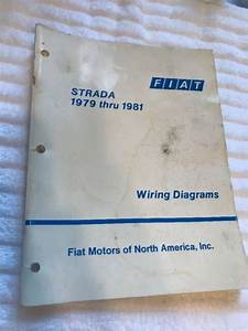 1979 1981 Fiat Strada Wiring Diagrams Technical Factory