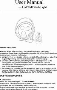 Wdfhbl2018 15 3 Ledww Userman 3rgb Wall Washer User Remote