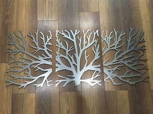 Metal wall art decor d sculpture piece tree brunch