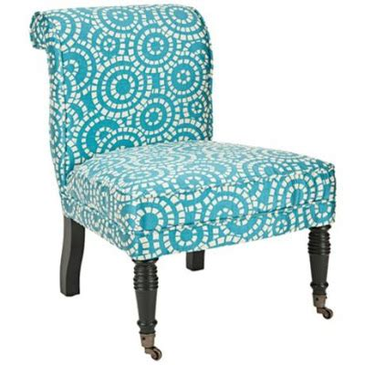 safavieh orson blue and white accent chair everything