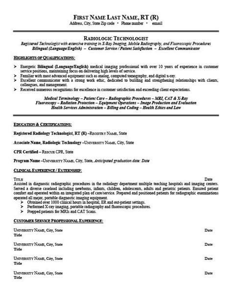 radiologic technologist resume template premium resume
