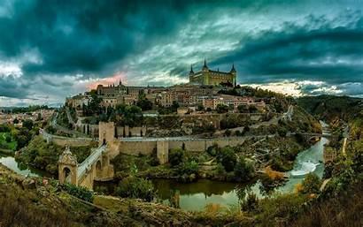 Spain Toledo Landscape Architecture Espana Background Wallpapers