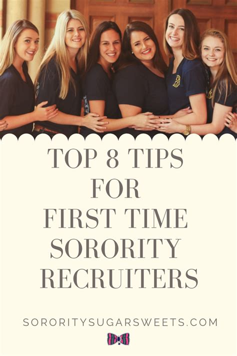 Top 8 Tips For First Time Recruiters Sorority