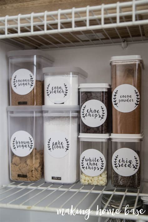 kitchen storage labels six steps to pantry organization with free printable labels 3160