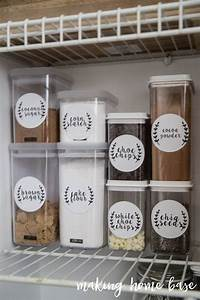 Six steps to pantry organization with free printable labels for Kitchen cabinets lowes with how to make sticker labels