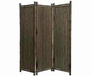 Paravent exterieur bambou noir for Paravent terrasse