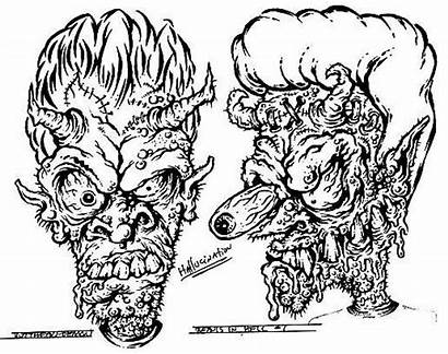 Beavis Butthead Zombie Rob Coloring Pages Tattoos