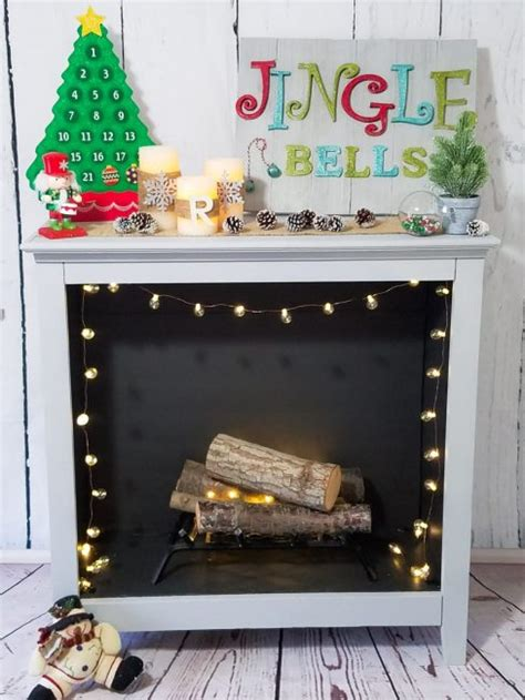 turn tv into fireplace turn an bookshelf into a gorgeous faux fireplace