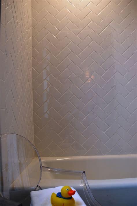 subway tiles  herringbone pattern httptiledailycom