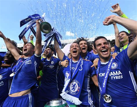 Chelsea lift trophy after being crowned Premier League ...