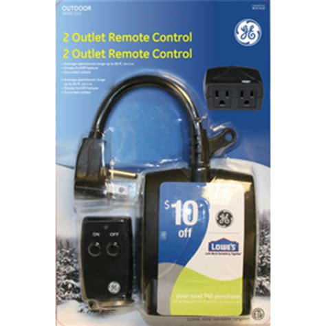 ge   outlet outdoor remote control