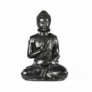 Statue Bouddha Interieur : statue bouddha hindou assis b ton cir noir h ~ Teatrodelosmanantiales.com Idées de Décoration