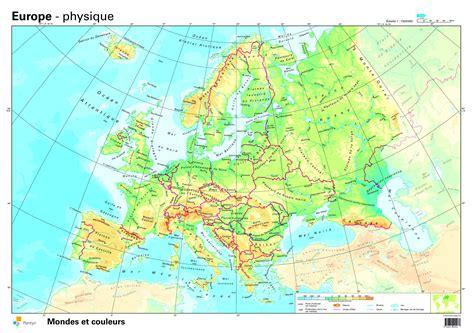 Carte Fleuves Europe Centrale by Carte De L Europe Cartes Reliefs Villes Pays Ue