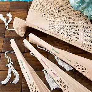 Personalized carved sandalwood folding hand fan favors for Fans for wedding favors personalized
