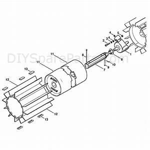 Stihl Kw 85 Sweeper Drum  Kw85  Parts Diagram  Gear Head
