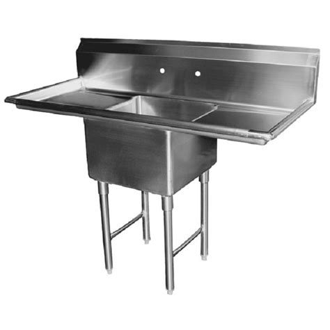 prep sinks with drainboards gsw se18181r one compartment stainless prep sink w 2