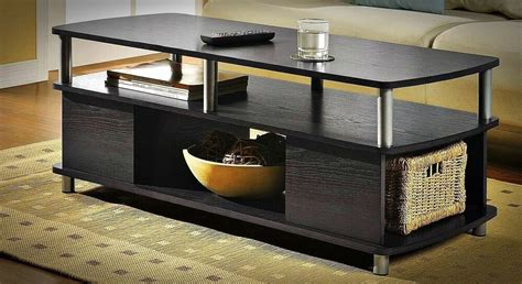 Contemporary Coffee Table Storage Modern Black End Tables