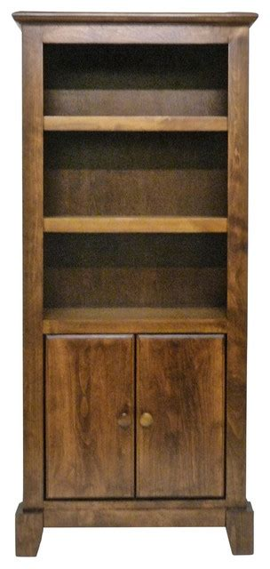 rustic bookcase with doors shaker bookcase with lower doors natural alder rustic