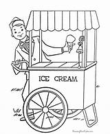 Ice Cream Coloring Pages Parlor sketch template