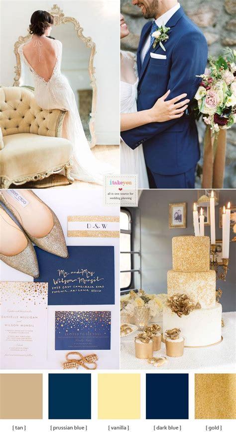 opulent blue  gold wedding theme weddingspirations