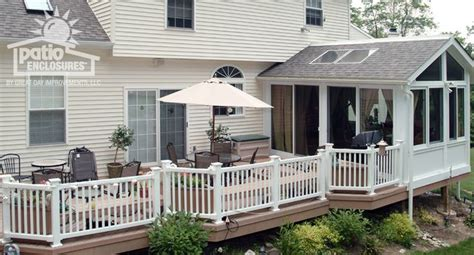 Enclosed Patio With Stairs Designs