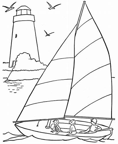 Coloring Beach Pages Summer Scenes Activities