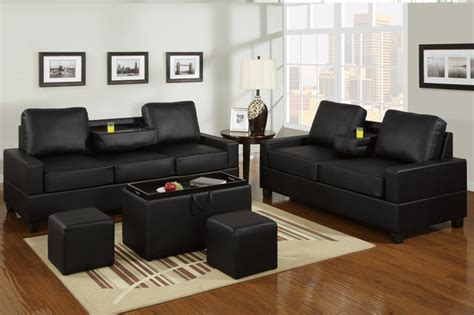 black leather sofa bed with cup holder black leather sofa couch loveseat modern center console