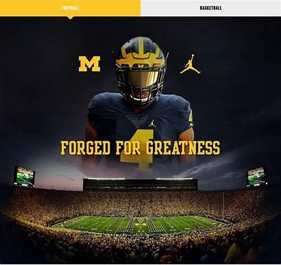 Michigan Jordan Football University Nike Brand Amazes