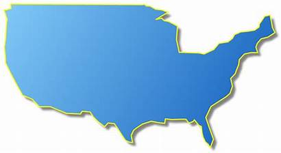 Map Clip Clipart Usa Outline Cliparts Maps