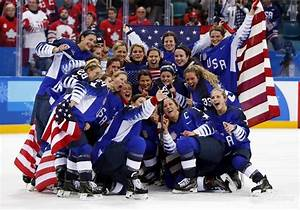 US win women's ice hockey gold medal - THE DAYAFTER
