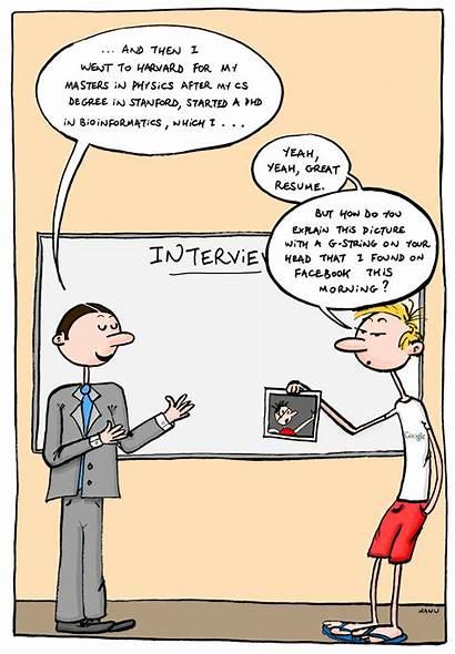 Job Comic Digital Humor Profile Resume Privacy