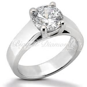 thick band engagement rings cut 0 75 2 5 carat solitaire engagement ring in white or yellow gold 14k 18k