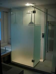 Paroi Douche Verre Sablé : pare douche en verre porte de douche paroi de douche ~ Premium-room.com Idées de Décoration