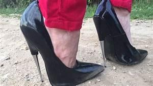 High Heels Auf Rechnung : versuch 2 spazieren in extremen high heel pumps auf dem unebenen weg pfennigabsatz 7 25 inch ~ Themetempest.com Abrechnung